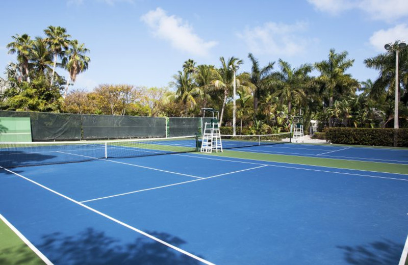 Tennis court at Cheeca Lodge & Spa.