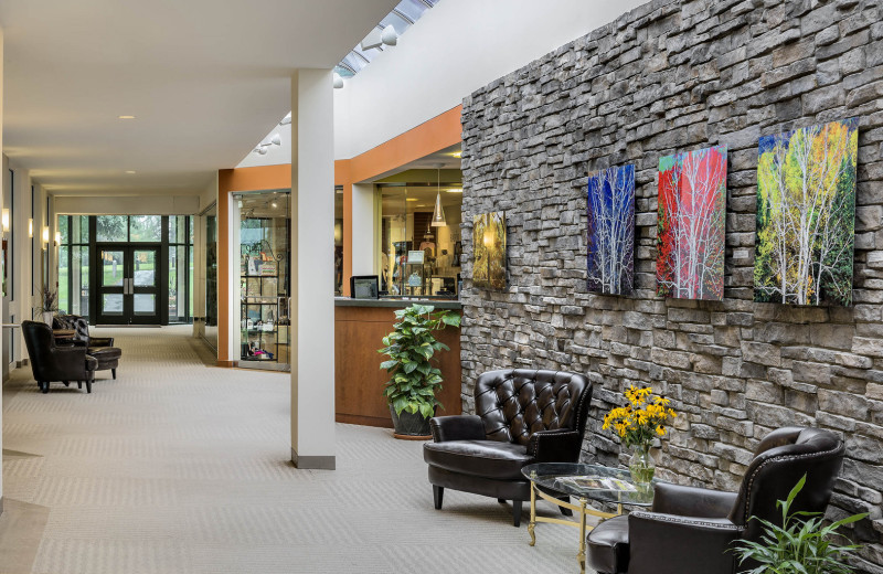 Spa lobby at Cranwell Spa & Golf Resort.
