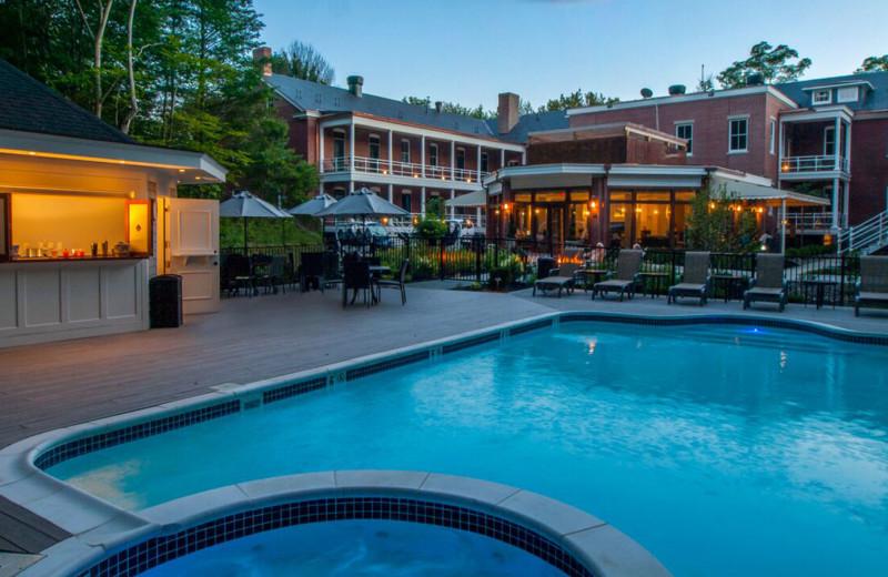 Outdoor pool at Inn at Diamond Cove.