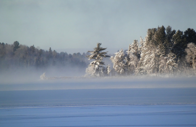 Winter Fog Over Bear Island Lake