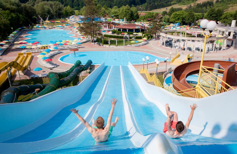 Water park at Glamping Olimia Adria Village.