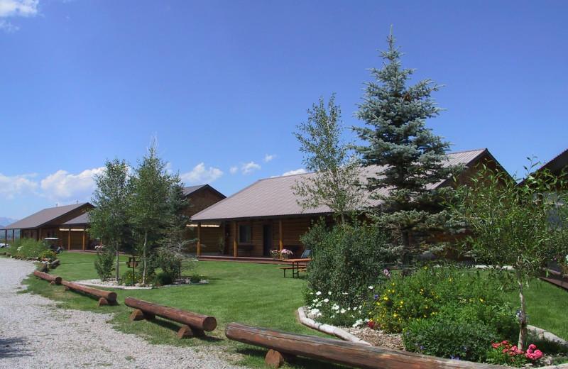 Exterior view of Luton's Teton Cabins.