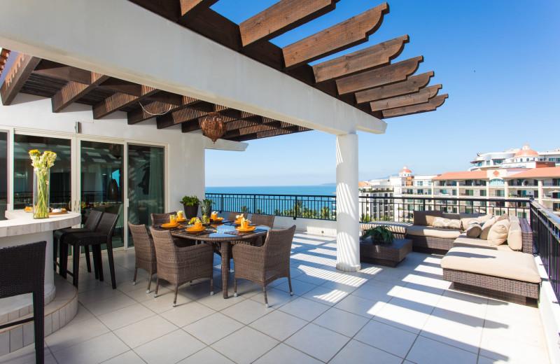 Rental patio at La Isla - Vallarta.