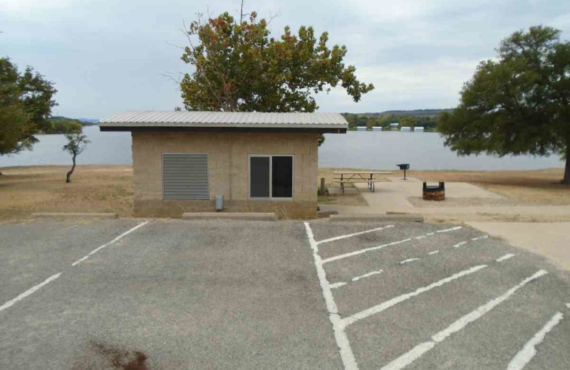 Handicapped accessiable cabin a Inks Lake State Park.