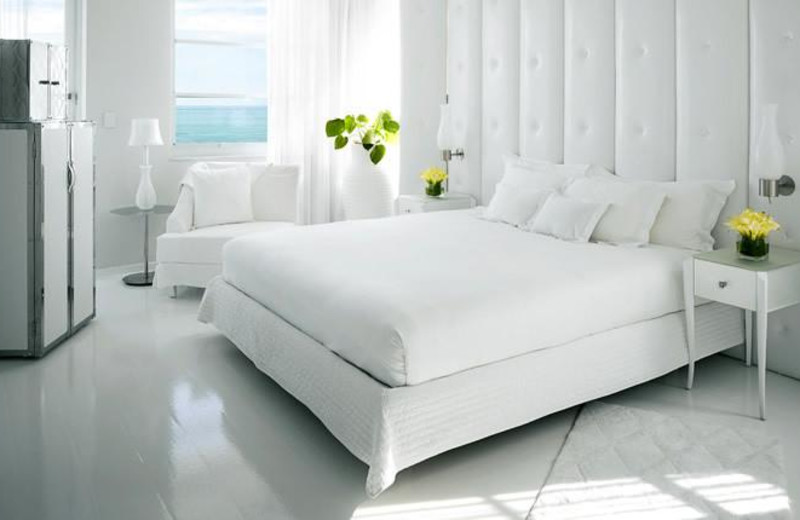 Guest room at Delano South Beach.