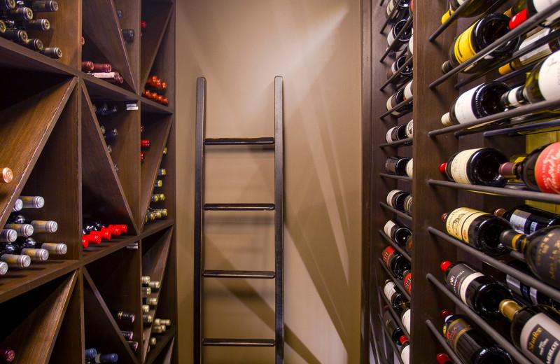 Wines at Bugaboos Lodge.