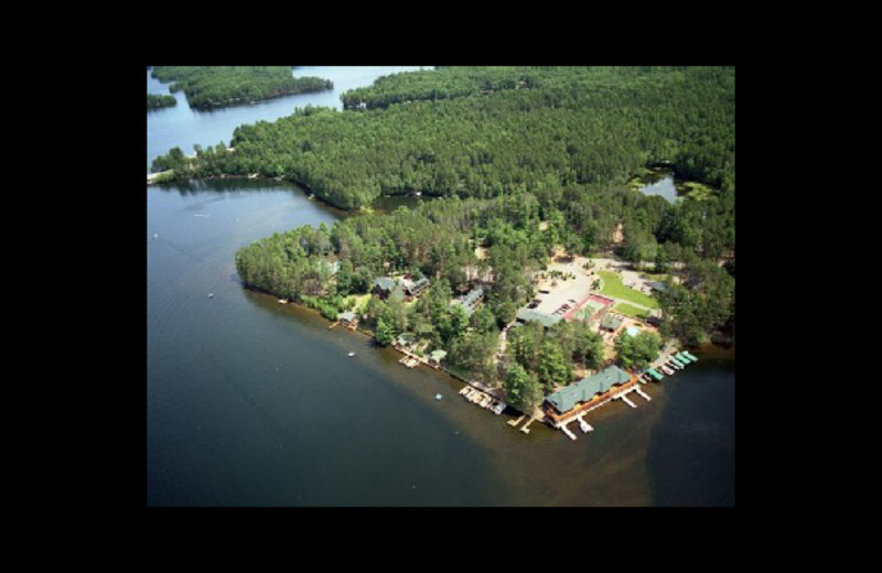 Aerial view of Chippewa Retreat Resort.