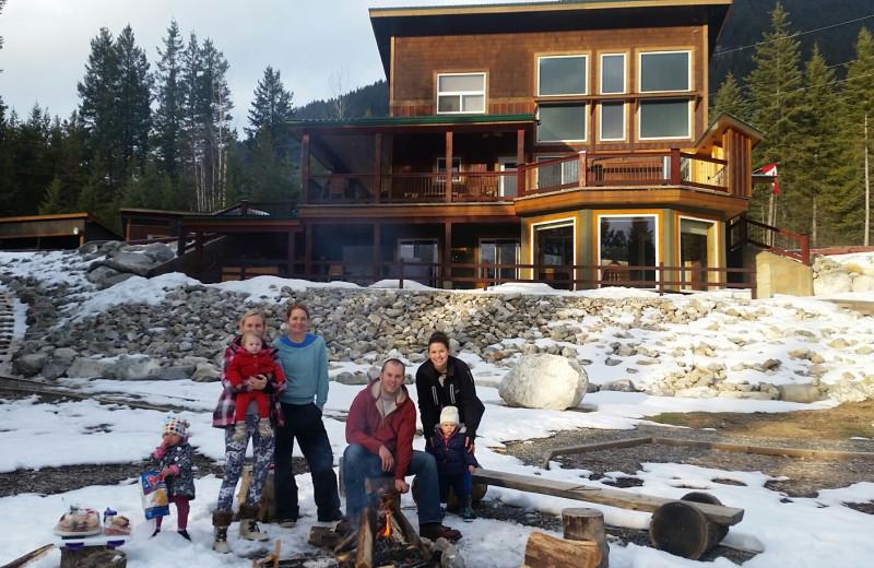 Family at Cedar House Restaurant & Chalets.