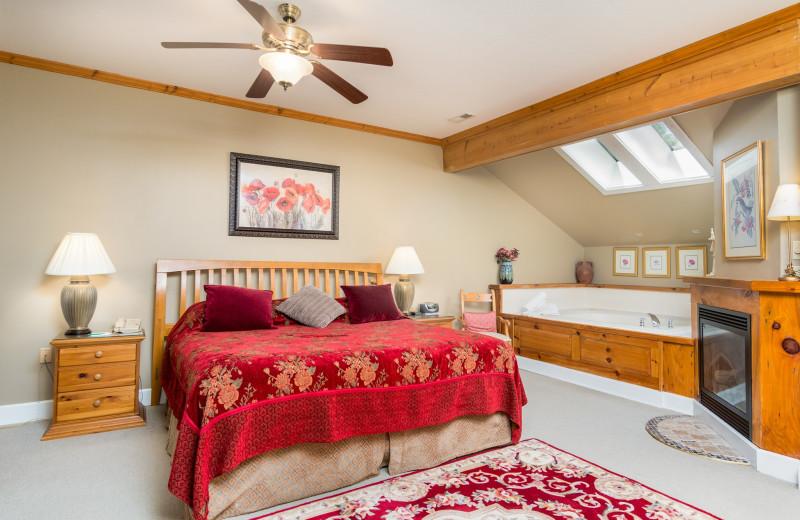 Guest room at Highland Lake Inn.