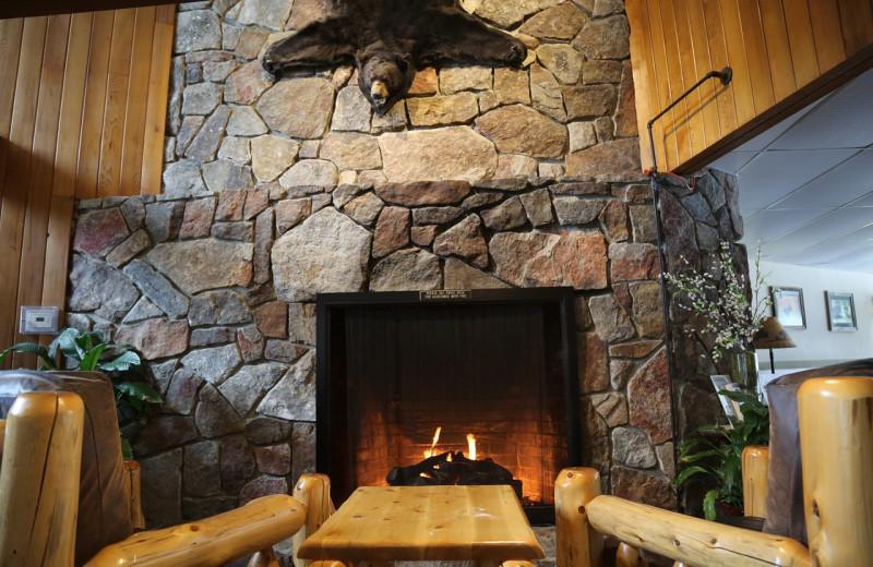 Lobby at Black Bear Lodge.