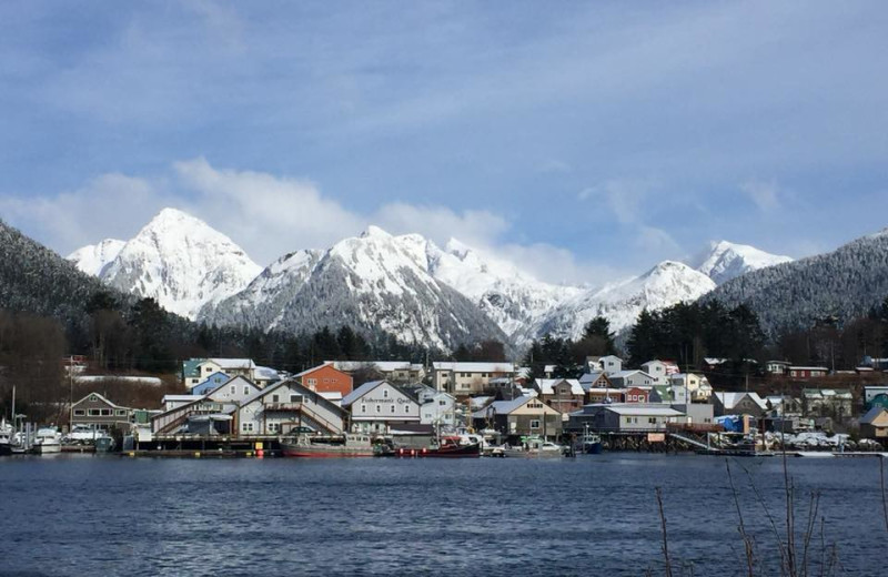 Town near Alaska's Big Salmon Lodge.