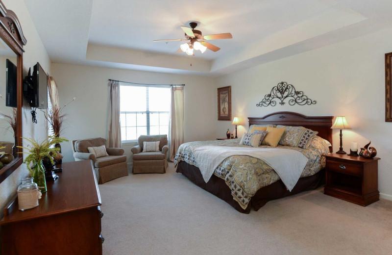 Rental bedroom at Branson Vacation Rentals.