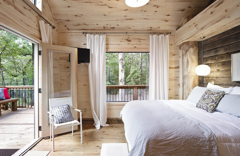 Rental bedroom at Hidden Hills Cabin Rentals.