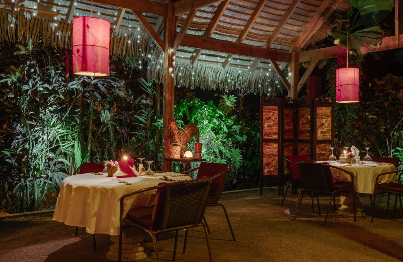 Dining at El Castillo Boutique Luxury Hotel.