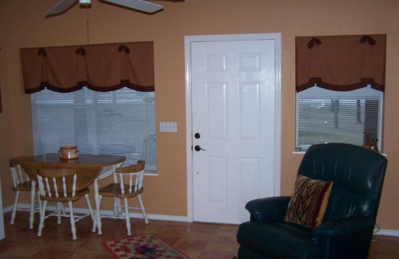 Interior at Spicewood Cottage by Lake Travis.