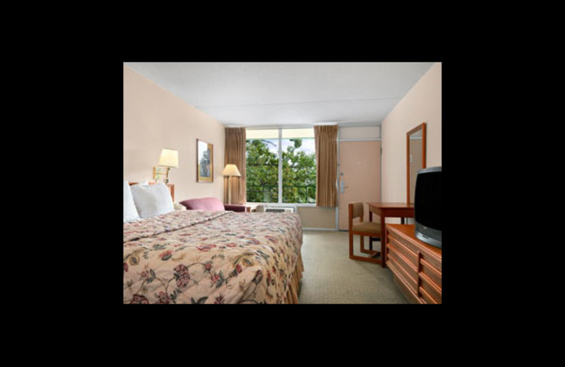 Guest room at Ramada Resort and Conference Center.