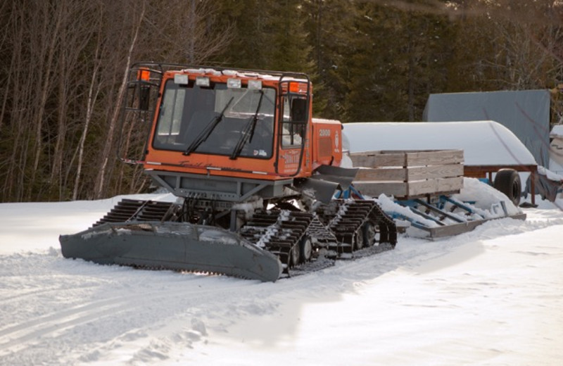 Trail grooming at The Birches Resort.