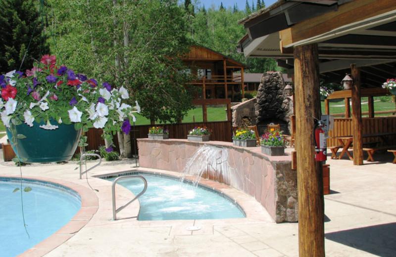 Hot tub at C Lazy U Ranch.