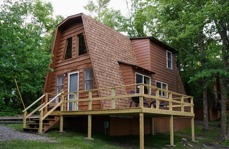 Cabin exterior at Little Norway Resort.