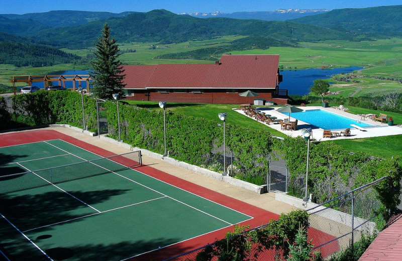 Tennis court at The Bella Vista Estate.
