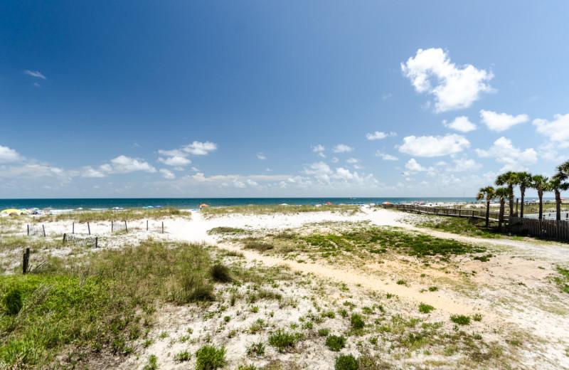 The beach at Vacation Homes Perdido Key.