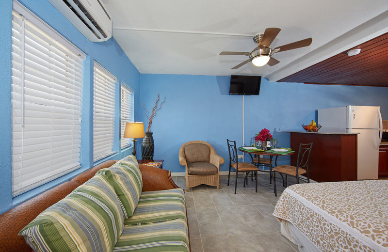 Rental interior at Paradise Cove Resort.