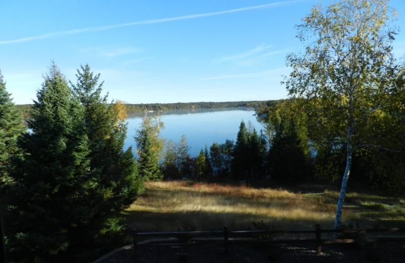 Lake view at Schatzi's 4 Seasons Resort.