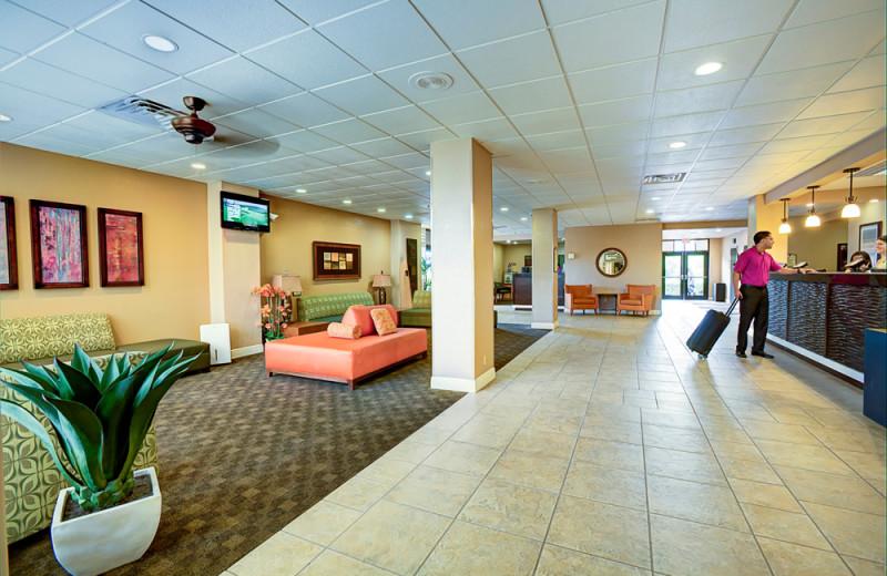 The lobby at Rosen Inn.