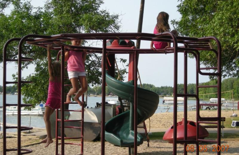 Playground at Eden Acres Resort.