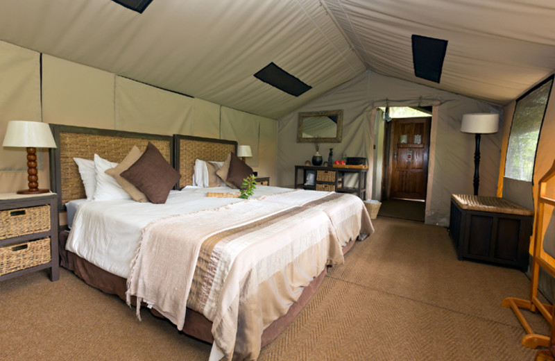 Guest room at Tembe Elephant Park.