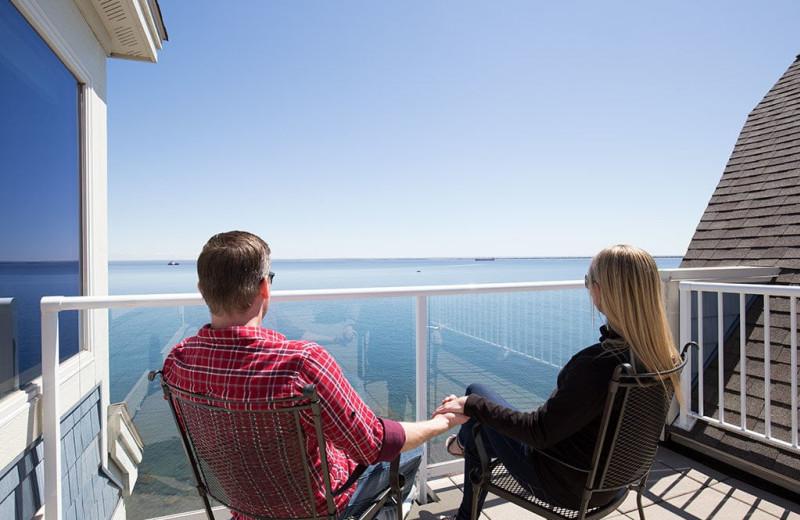 Balcony at Beacon Pointe Resort.