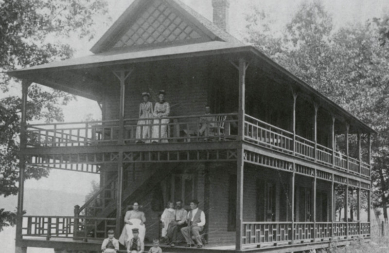 Historic photo of Bay Pointe Inn Lakefront Resort.