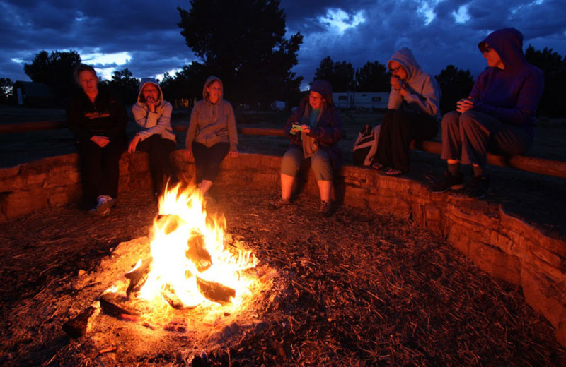 Campfire at Zion Ponderosa Ranch Resort.