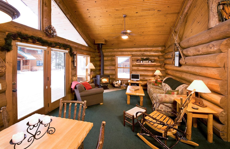 Cabin interior at Grand Superior Lodge on Lake Superior.