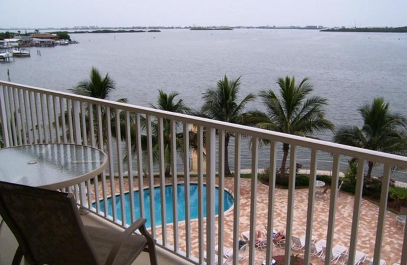 Balcony view of pool at Boca Ciega Resort.