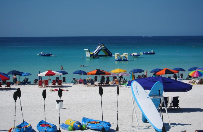 Beach activities at Seascape Resort.