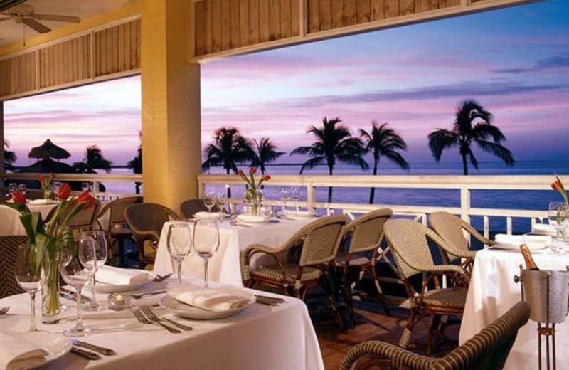 Dining at Key Largo Marriott Bay Resort.