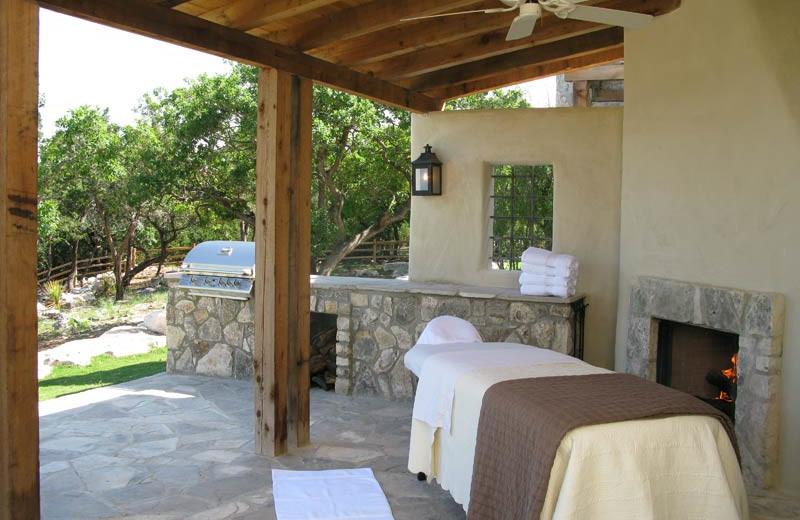 Massage Area at Stablewood Springs Resort