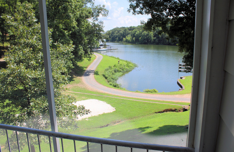 Balcony view at Lynnhurst Family Resort.