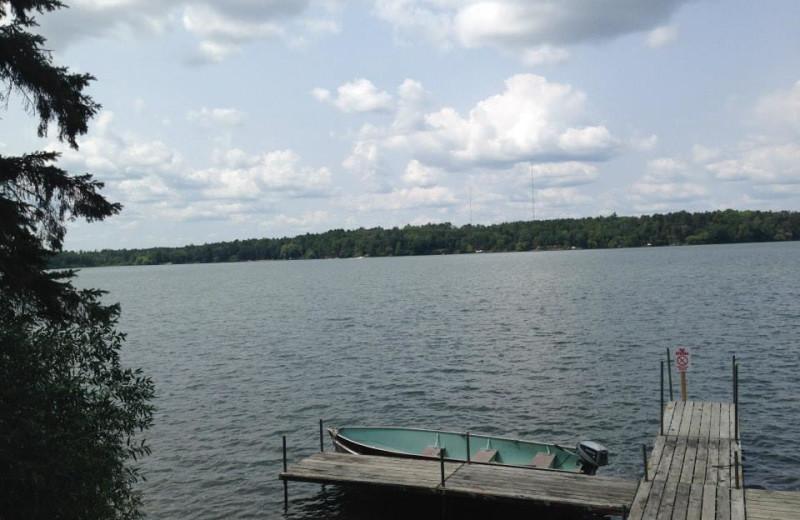 Lake view at Timberlane Resort.