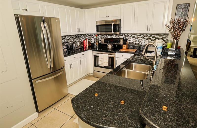 Rental kitchen at Sterling Shores.