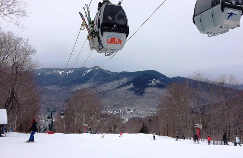 Skiing at All Mountain Rentals.
