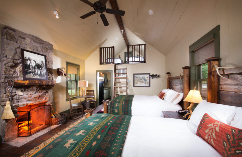Guest room at Big Cedar Lodge.