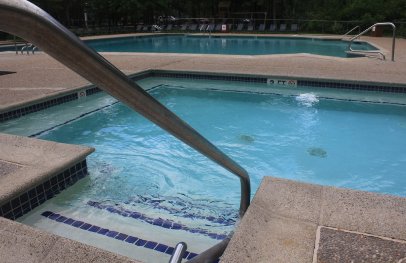 Hot tub at Attitash Mountain Village Resort.