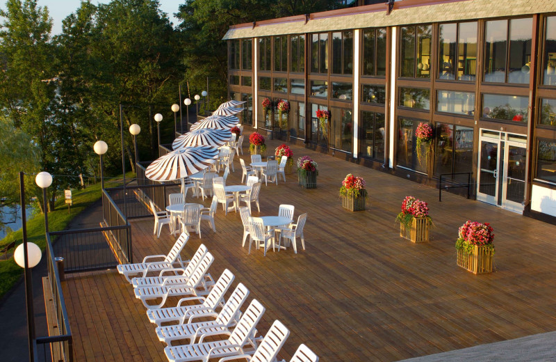 Patio at Cragun's Resort and Hotel on Gull Lake.