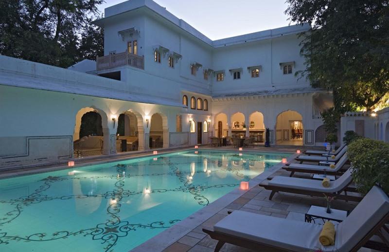 Outdoor pool at Samode Bagh.