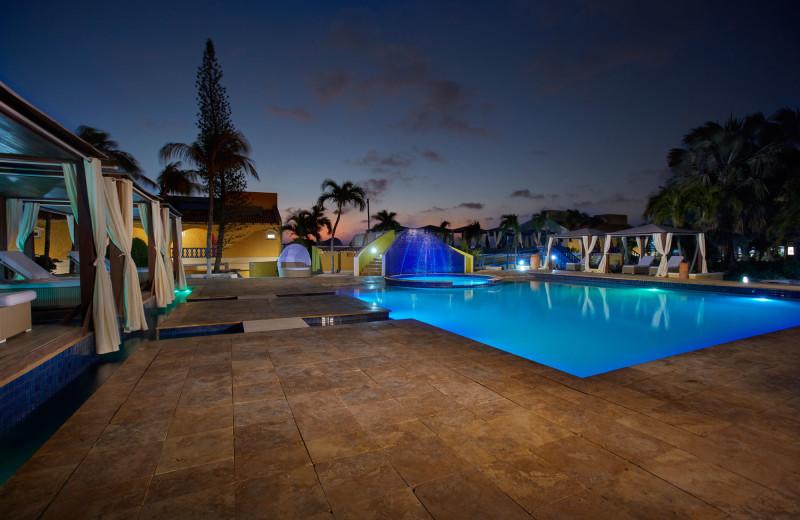 Outdoor pool at Divi Flamingo Beach Resort.
