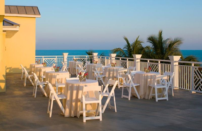 Patio dining at The Reach Resort.