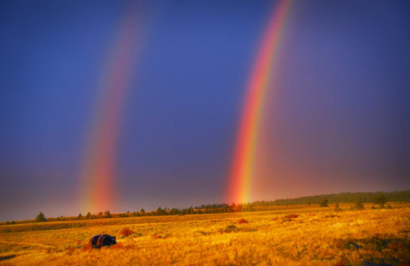 Double rainbow at Rocky Mountain Elk Ranch.