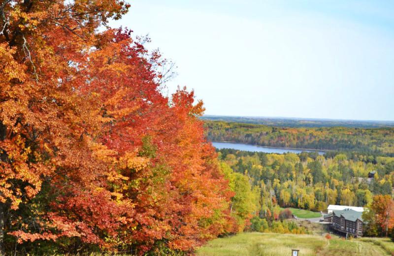 Fall colors at Giants Ridge Golf and Ski Resort.